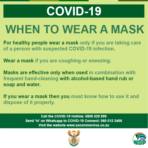 Social media - COVID-19 When to wear a mask